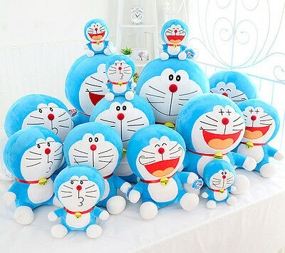 Cute 25Cm 10  Cute Plush Toy Soft Laugh Style Doraemon Doll Stuffed Animal Gift