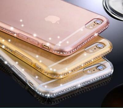 Luxury Ultra Thin Crystal Diamond Bling Gel Case Cover for iPhone 6 7 Samsung