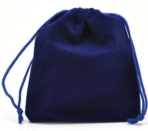 Wholesale-Lots-Dark-Blue-Velvet-Pouch-Jewelry-Bags-With-Drawstring-12x10cm