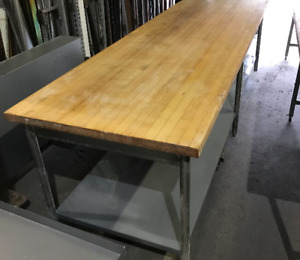 Used Butcher Block Tables