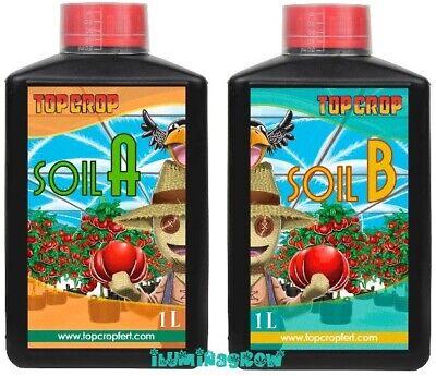 TOP SOIL A+B 1L Abono Crecimiento y Floracion Fertilizante Suelo tierra TOP...