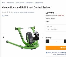 Brand new in box kinetic rock n roll smart control trainer