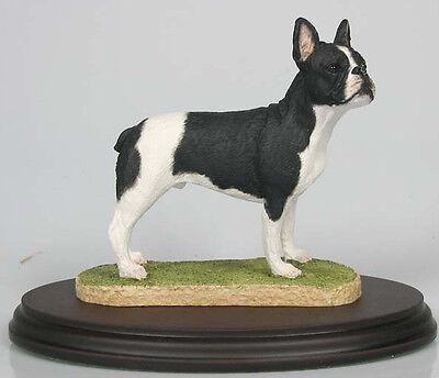 französische Bulldogge figur hund Naturecraft hundefigur dogge alabaster sw