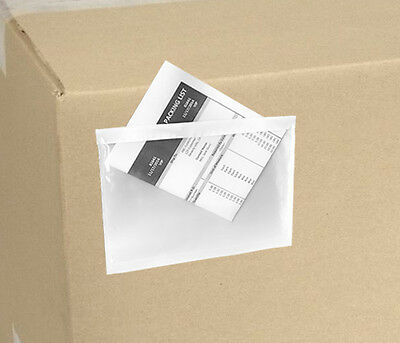 50 Clear Packing List Invoice Envelopes 5.5x7.5 Self Adhesive SUPER STICKY