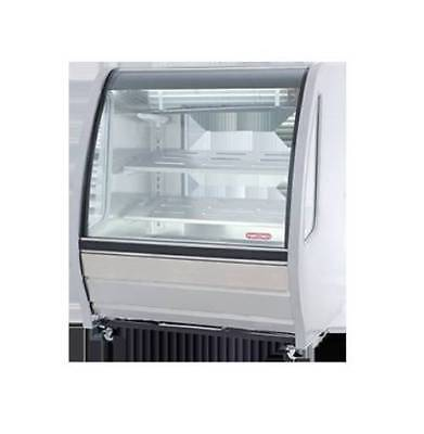 Torrey 40 Prokold Curved Glass White Deli Bakery Display Case Refrigerated