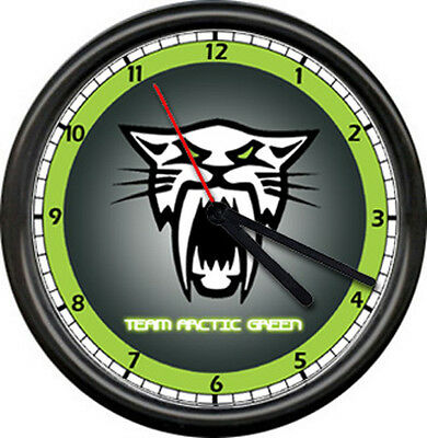 Team Arctic Cat Snowmobile Panther Winter Sports Racing Dealer Sign Wall Clock
