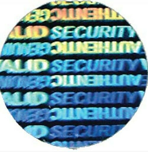 Round Security Genuine Authentic Foil Hologram