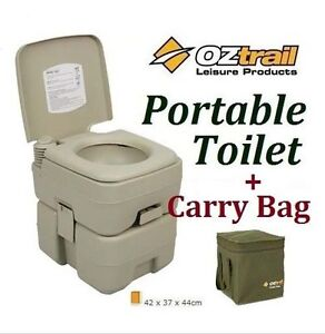 OZTRAIL-PORTABLE-20-LITRE-FLUSH-CAMP-CAMPING-OUTDOOR-TOILET-CARRY-BAG