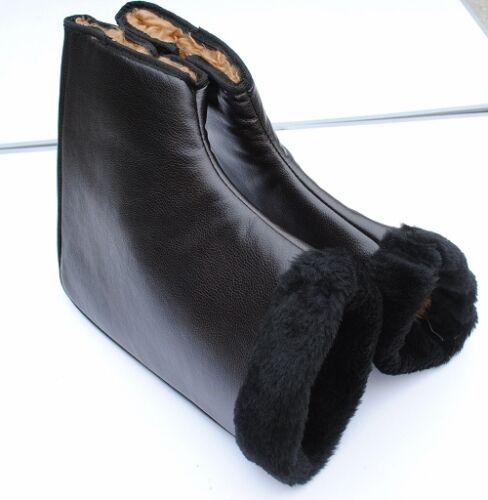 Black  Winter Motorcycle Grip Handlebar Bar Muffs Hand Covers Hot