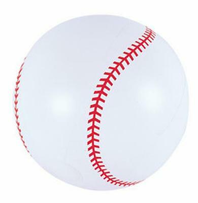 12 INFLATABLE BASEBALL 12 inch sports ball inflate blowup toy novelties BULK LOT - Inflatable Baseball