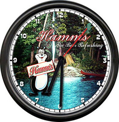 Hamm's Hamms Beer Bear Bar Tavern Camp Tent Boat Sign Wall Clock
