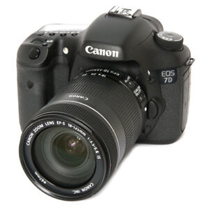 Canon EOS 7D and Canon EFS 18-135 MM  Lens 1:3.5-5.6 IS + Kit