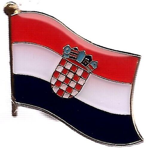 LOT OF 12 Croatian Flag Lapel Pins - Croatia Flag Pin