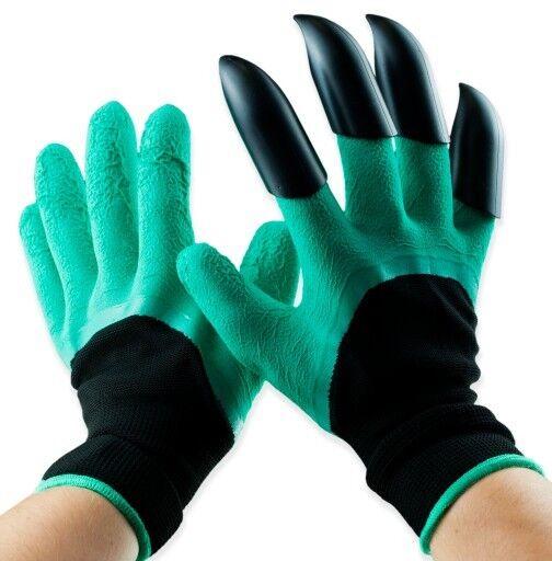Garden Handschuhe mit Klaue Krallen zum Graben Garten Arbeithandschuhe Grun