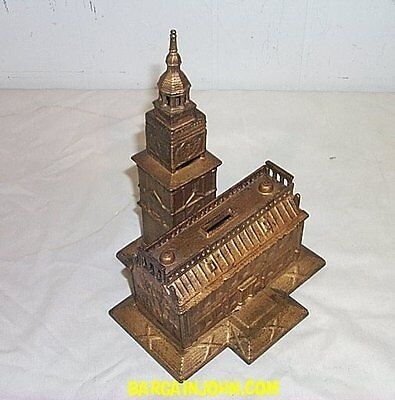 Independence Hall Building Antique Still Toy Bank
