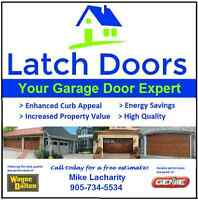 LATCH DOORS-Residential Garage Door Sales, Installation & Repair