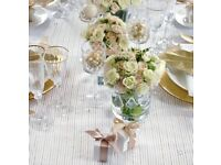 Gold Pin Stripe Organza Table Runner decorative beautiful partywear