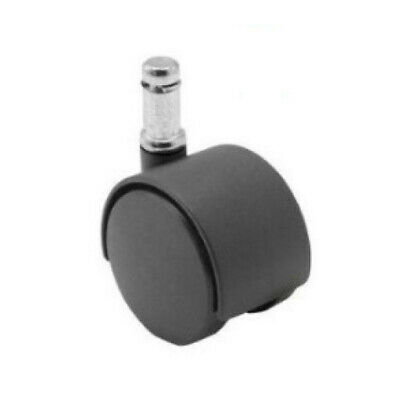 Swivel Stem Caster 2 Twin Wheel 716 Grip Ring Plastic Housing