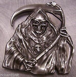 Pewter Belt Buckle novelty The Grim Reaper NEW