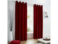 ,��25 Red velvet eyelet curtains from ikea 4 months old