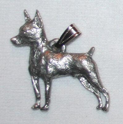 Min Pin Miniature Pinscher Dog Harris Fine Pewter Pendant USA Made