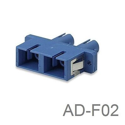 ST to SC Male-Male Duplex Fiber Optic Adapter, Blue, CablesOnline AD-F02