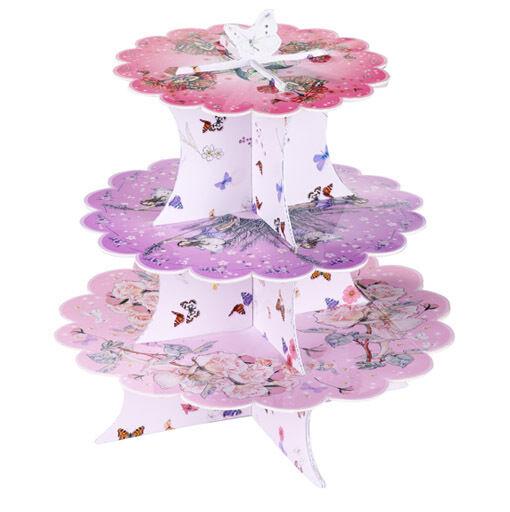 Talking Tables Blumen Fee Gebäck & Cupcake Etagere aus bedrucktem Karton