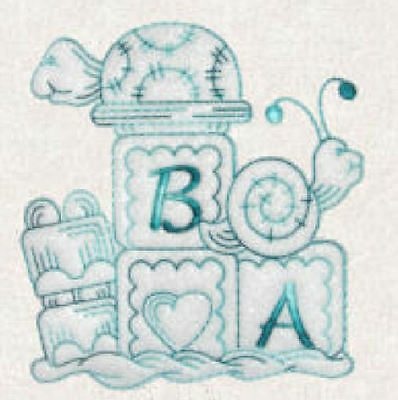 1082:  Machine Embroidery Designs - Especially For Baby V - (Redwork Machine Embroidery Designs)