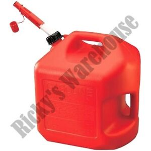 5 Gallon 20 Liter SPILL PROOF Gas Fuel Jerry Can Container Carrier MADE IN USA