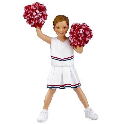 Dollhouse People Hand Painted Poly Resin Figure Girl Cheerleader Hw3032 Lexi