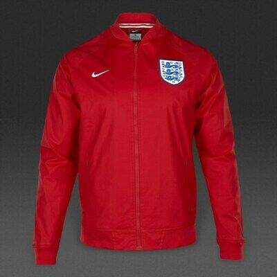 Nike Mens England Football Authentic Varsity Official Jacket Top Red Size Medium