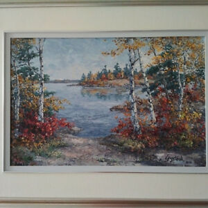 Original Oil Painting by James L. Keirstead – Island