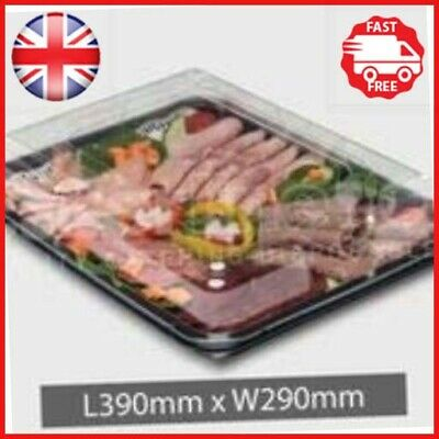 25x Medium Plastic Buffet Catering Party Food/Sandwich Platter Trays With Lids](Plastic Party Trays With Lids)