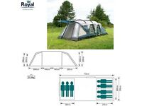 Royal Hampton 7 man tent with extension/awning and carpet