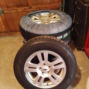 Ford Edge winter tires on rims-almost new