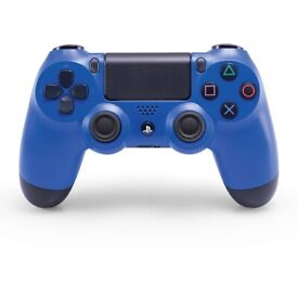 PS4 controller blue and black