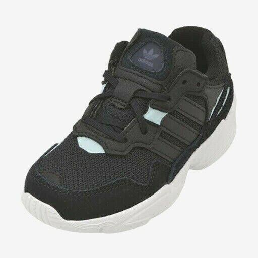 Adidas Yung-96 C Kinder Schuhe Gr. 35 NEU Jungen Sneaker Sport schwarz