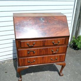 walnut bureau / desk