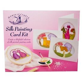 Silk Painting Card making kit RRP £25, Brand new, Perfect Gift for Girls and Grownups