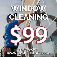 $99 Window Cleaning Special - Call (514) 629-9274