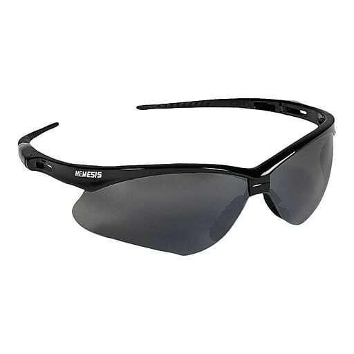 Jackson Nemesis V30 Safety Glasses/Sunglasses Various Colors & Quantities  25688 - Black Frame/Smoke Mirror Lens