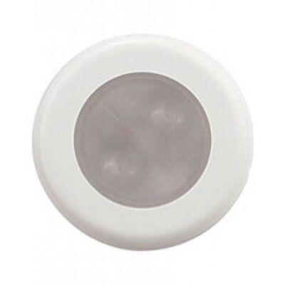 Aqua Signal Bogota Round White LED Light w/ Chrome Cover
