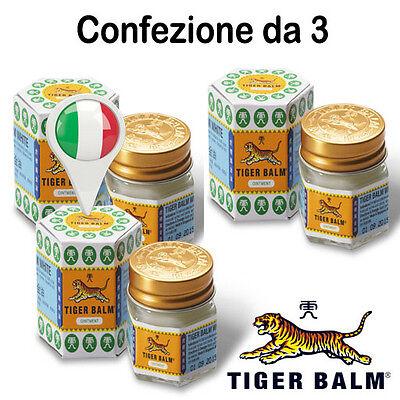 Confezione da 3 Balsamo di TIGRE Bianco ORIGINALE WILD TIGER (NO CINA) in ITALIA