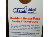 edinburgh marathon street access pass