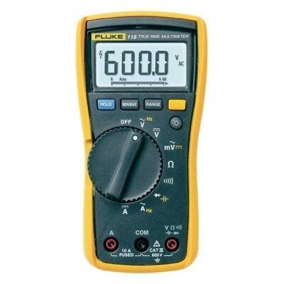 Genuine Fluke 115 Digital Handheld Hvac Multimeter True Rms Cat Iii 600 V Uk