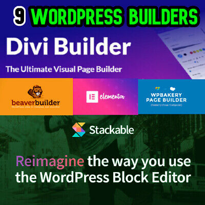 Wordpress Page Builder 9 Plugin Elementor Pro Wpbakery Stackable More