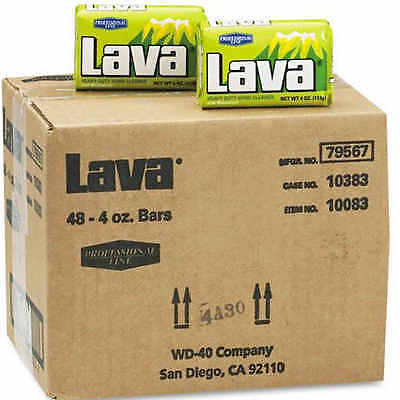 Lava Heavy Duty Hand Cleaner - Lava Hand Bar Soap Unscented Heavy Duty Cleaner w/ Pumice 4 oz Bars 48 ct Case
