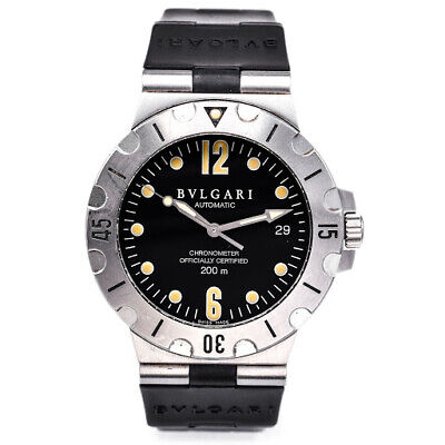 Bvlgari Diagono Scuba Automatic Watch 38mm Stainless Steel Diver Ref SD 38S Mens for sale  Shipping to India