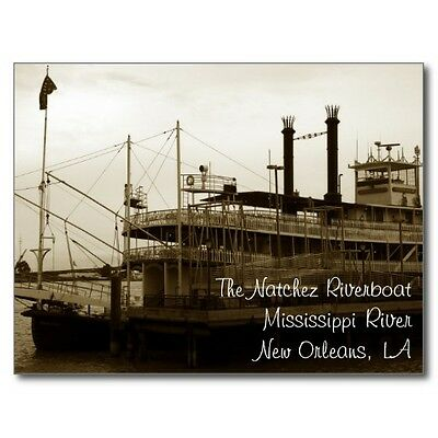 "*Postcard-""The Natchez Riverboat"" ...Mississippi River/New Orleans, LA.(B324)"