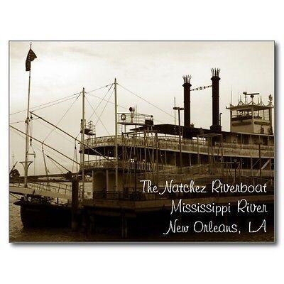 """~Post Card~""""The Natchez Riverboat"""" ...Mississippi River/New Orleans, LA."""